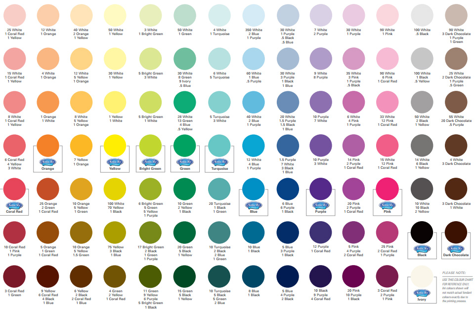 Satin Ice Colour Mixing Guide