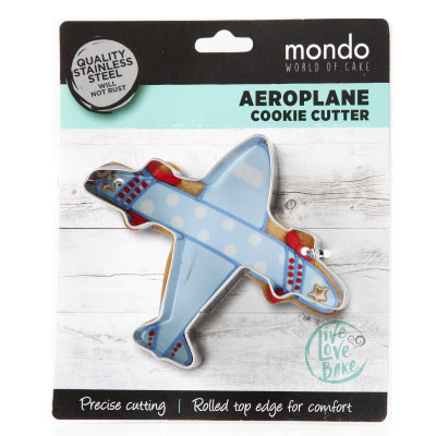 Aeroplane Stainless Steel Cookie Cutter