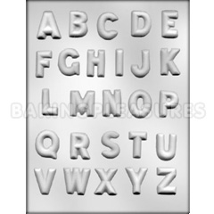 Alphabet Chocolate Mould 3cm