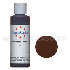 AmeriColor Soft Gel Paste Chocolate Brown 4.5oz