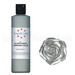 AmeriColor Silver Sheen Airbrush/Paint Food Colour 4.5oz