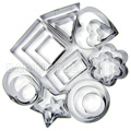 Assorted Shapes Mini Cutter Set 24pcs - Stainless Steel