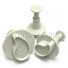Ateco Curved Leaf Sugar Paste Cutters