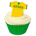 Australia Edible Wafer Soccer Football Jersey 12pcs