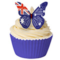 Australia Flag Edible Wafer Butterflies 12pcs