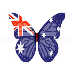 Australia Flag Edible Wafer Butterflies
