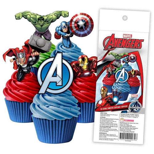 Avengers Edible Wafer Cupcake Toppers