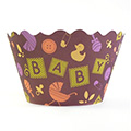Baby Blocks Cupcake Wrappers 12pcs