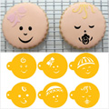 Baby Faces Stencils 6pcs