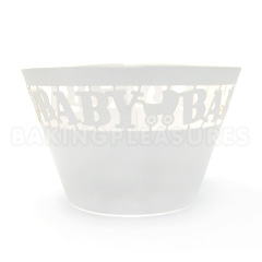 Baby Pearl Off White Lace Cupcake Wrappers