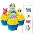 Baby Shark Edible Wafer Cupcake Toppers 16pcs