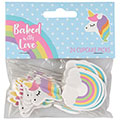 Baked with Love Unicorn Cupcake Picks 24pcs