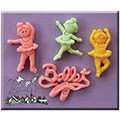 Alphabet Moulds Ballerinas Silicone Mould