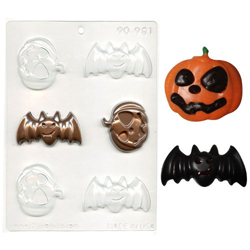 Bats & Pumpkins Halloween Chocolate Mould