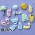 Alphabet Moulds Beach Silicone Mould