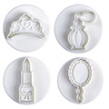 Beauty Plunger Cutters Set 4pcs