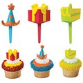 Birthday Party Cupcake Picks 12pcs