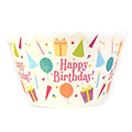 Birthday Party Hats Cupcake Wrappers 12pcs