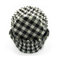 Black Gingham Mini Baking Cups 65pcs