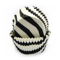 Black Zebra Mini Baking Cups 65pcs