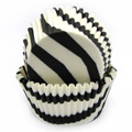 Black Zebra Print Baking Cups 32pcs