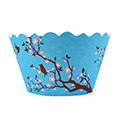 Blossom Bird Blue Cupcake Wrappers 12pcs