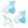 Blue Baby Bottle Cupcake Rings 12pcs