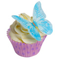 Blue Edible Wafer Butterflies 12pcs