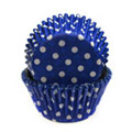 Blue Polka Dot Mini Baking Cups 65pcs