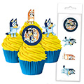 Bluey Edible Wafer Cupcake Toppers 16pcs