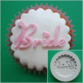 Alphabet Moulds Bride Cupcake Silicone Mould