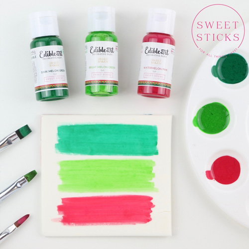 Sweet Sticks Edible Art Paint BRIGHT MELON GREEN 15ml