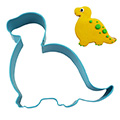 Brontosaurus Dinosaur Blue Cookie Cutter