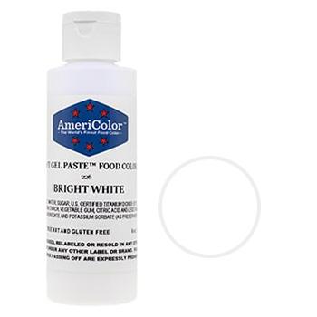 Bulk AmeriColor Soft Gel Paste Bright White 6oz