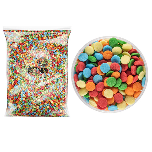 BULK Bright Confetti Sprinkles 4mm 1kg