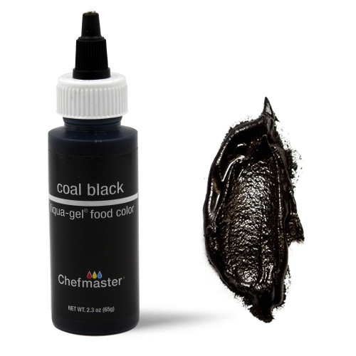BULK Chefmaster Liqua-Gel Coal Black 2.3oz