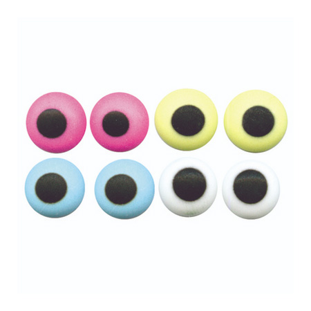 BULK Edible Sugar Eyes Assorted Colours 10mm