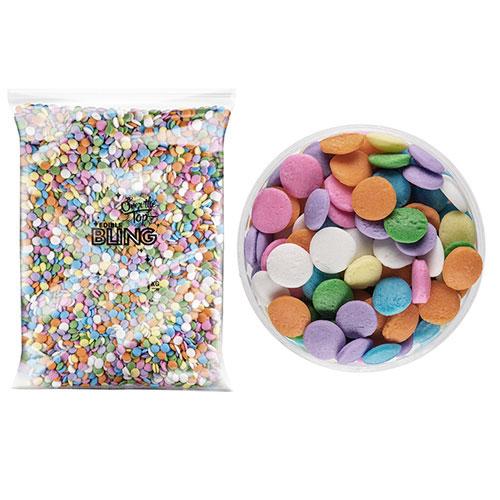 BULK Rainbow Pastel Confetti Sprinkles 8mm 1kg