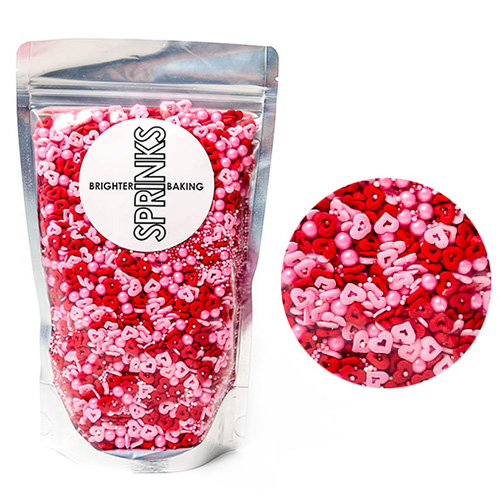 BULK Sprinks Cupid Cuddles Sprinkles 450g