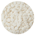 BULK White Confetti 8mm Sprinkles 1kg