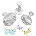 Mondo Small Butterfly Plunger Cutters 3pcs