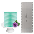 Cake Craft Buttercream Comb Curve Scraper 10 Inch