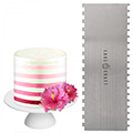 Cake Craft Buttercream Comb Thin Stripes Scraper 10 Inch