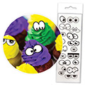 Cake Craft Edible Wafer Cartoon Eyes