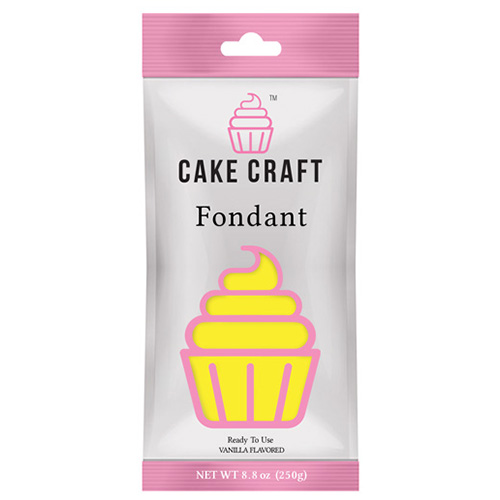 Cake Craft Fondant Yellow 250g