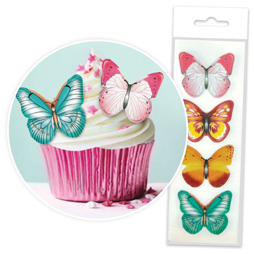 Cake Craft Mixed Edible Wafer Butterflies