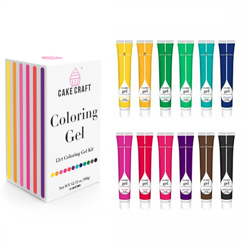 Cake Craft Starter Gel Colouring Kit 12pcs