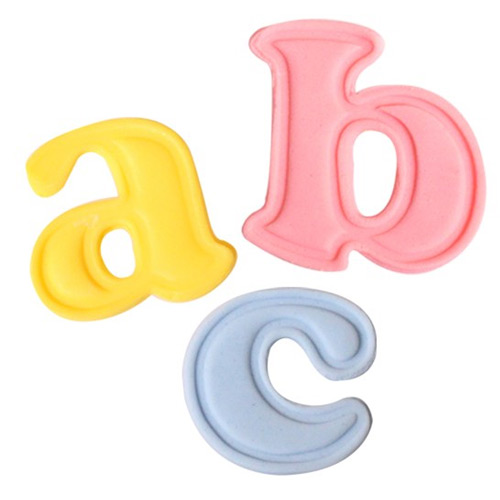 Cake Star Push Easy Plunger Cutters Mini Lower Case Alphabets 26pcs