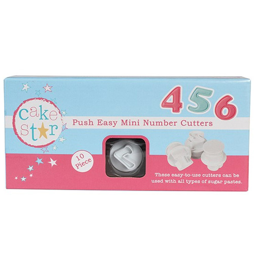 Cake Star Push Easy Plunger Cutters Mini Numbers 10pcs