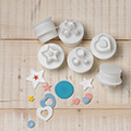 Cake Star Push Easy Plunger Cutters Shapes 6pcs